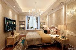 臥室花紋壁紙裝修效果圖三室兩廳歐式