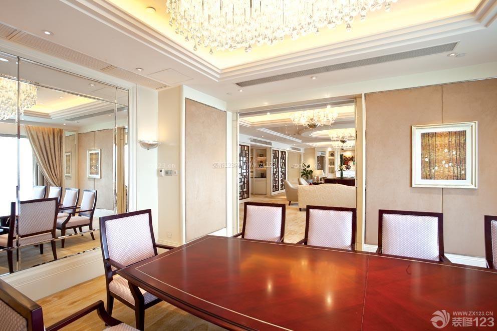 酒店套房美式餐厅装饰画装修效果图