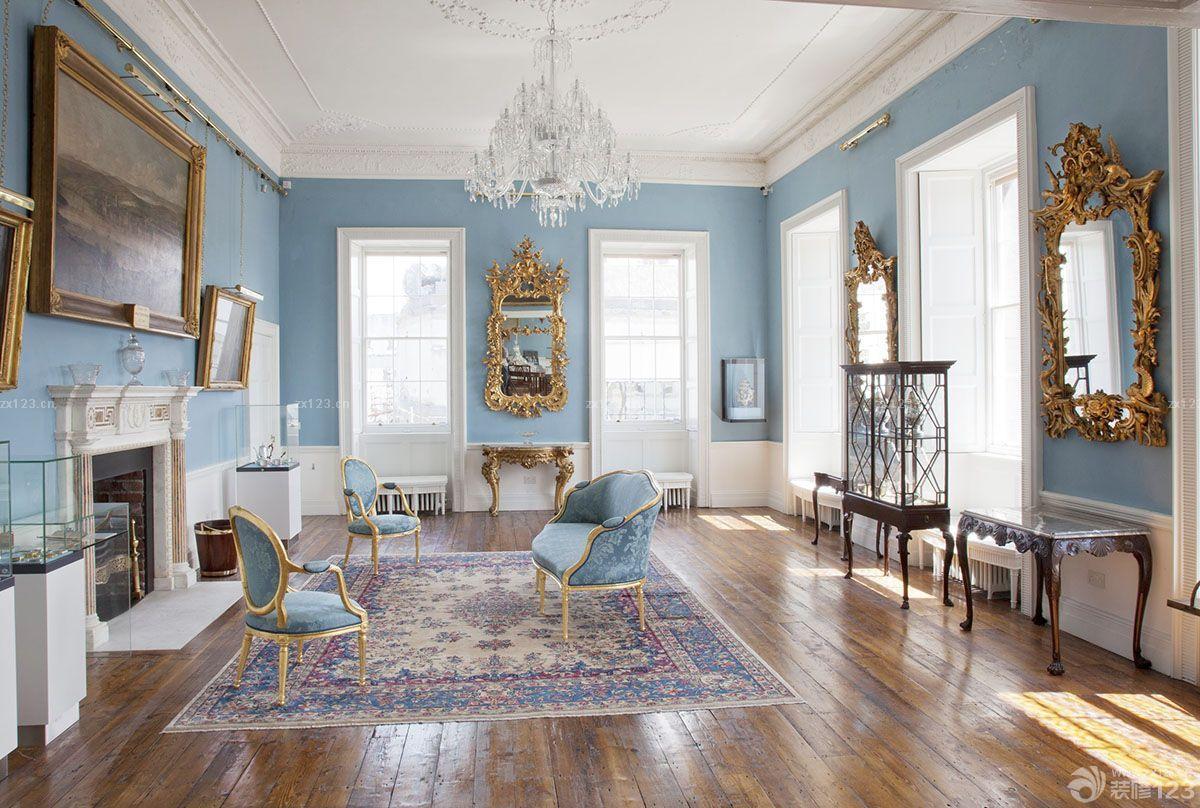 豪华别墅法式客厅装修效果图片图片