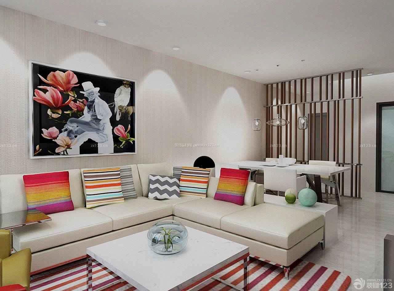 普通房子客厅墙面装饰画装修设计图片大全图片