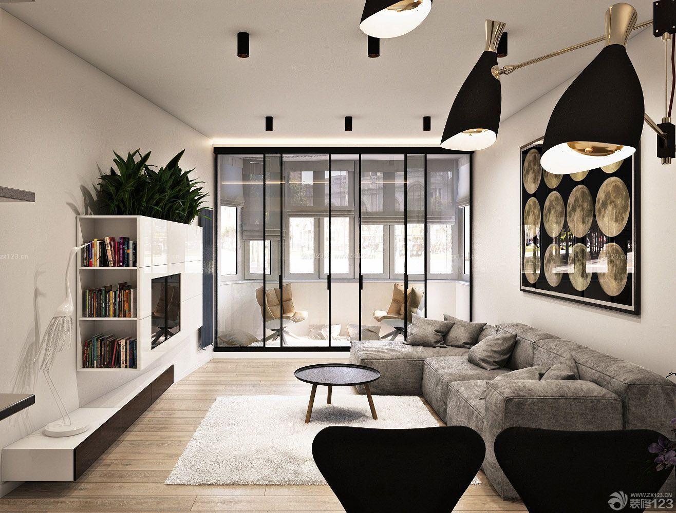 欧式家居装修效果图三室两厅客厅简装