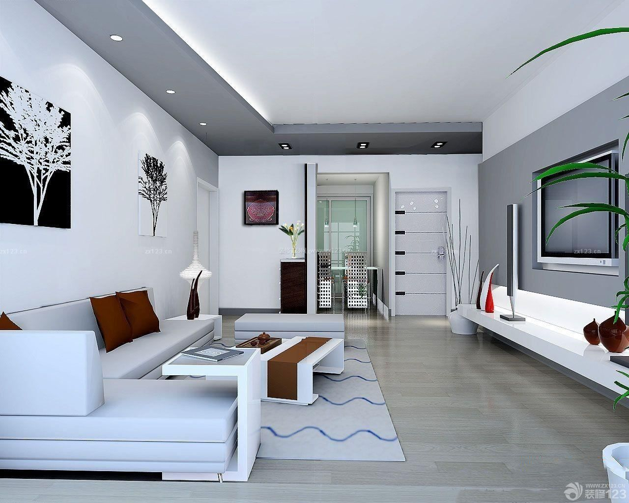 小户型客厅装修设计效果图三室两厅简装