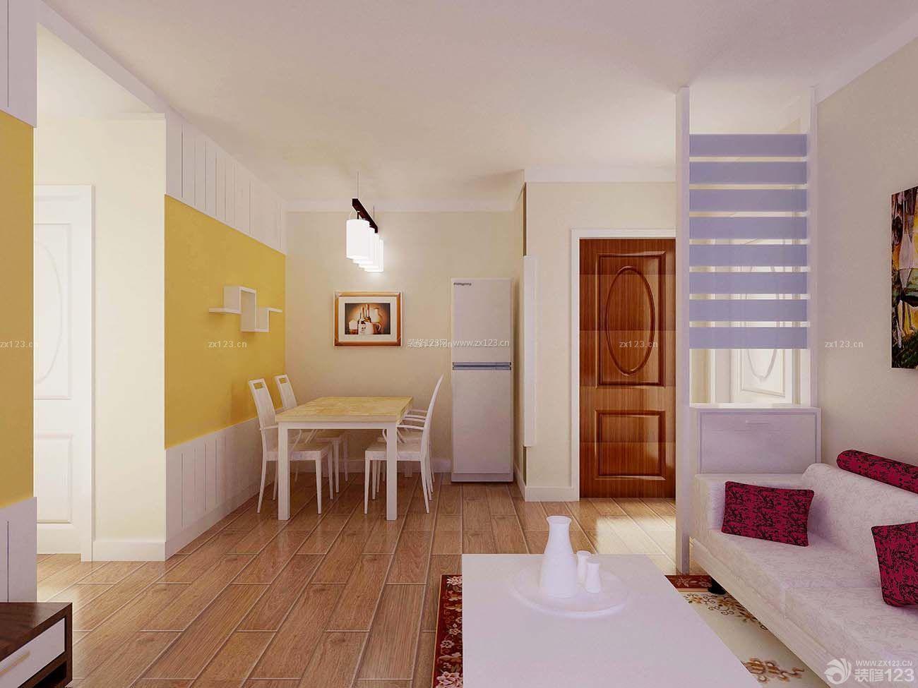 现代时尚装修效果图三室两厅客餐厅简装