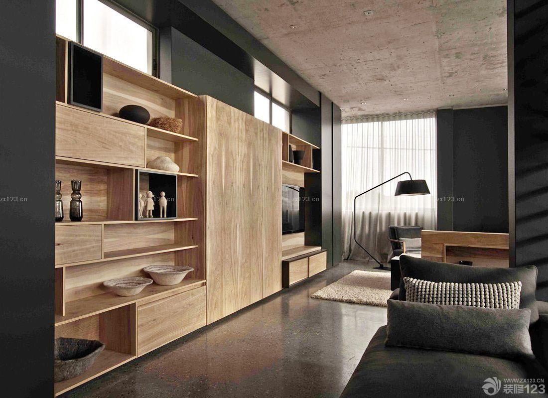 客厅壁柜展示架设计装修效果图