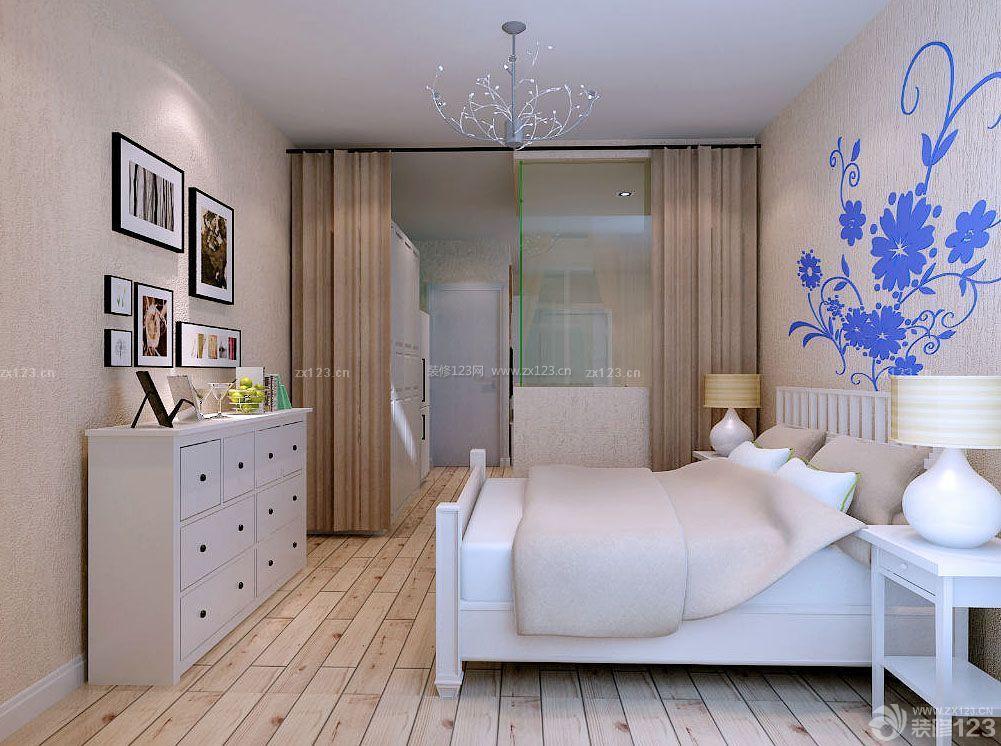40平米房子客厅木纹仿古瓷砖装修设计图片大全