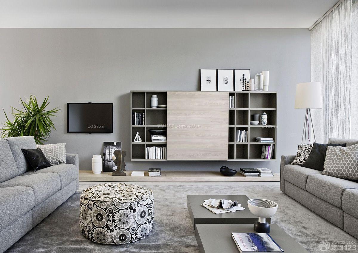现代风格家装客厅壁柜装修效果图样板大全