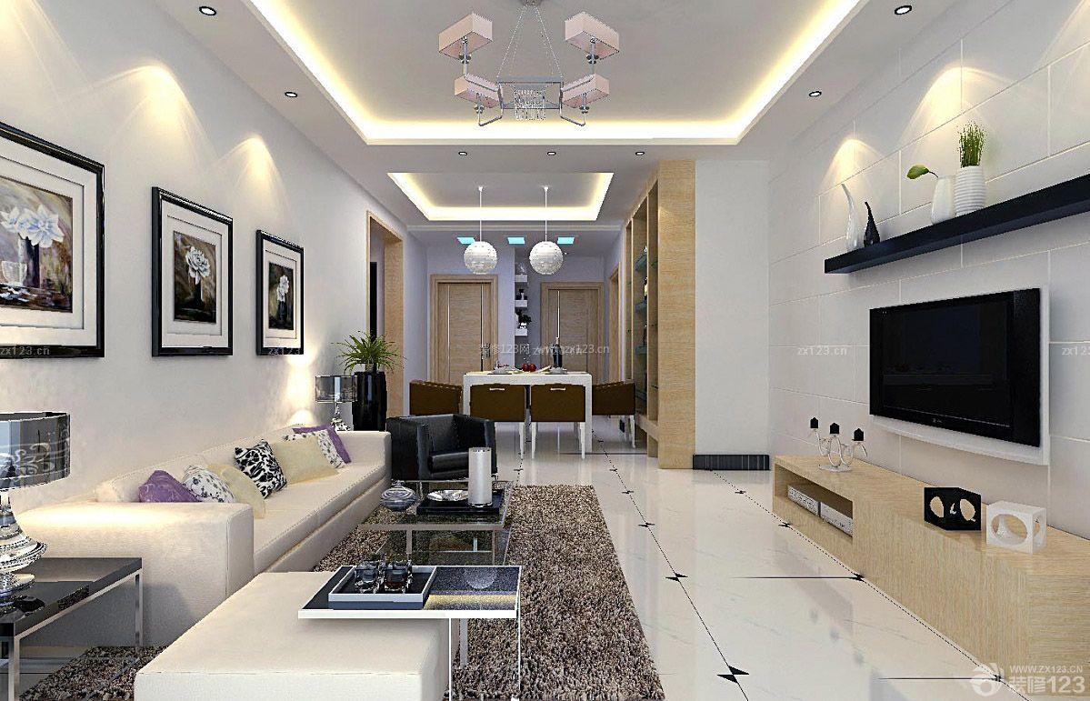房子长方形客厅装修设计图片大全平简约