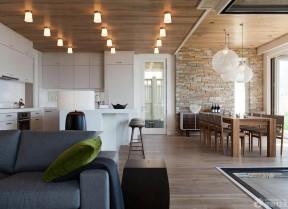 餐廳客廳吊頂效果圖 loft風格