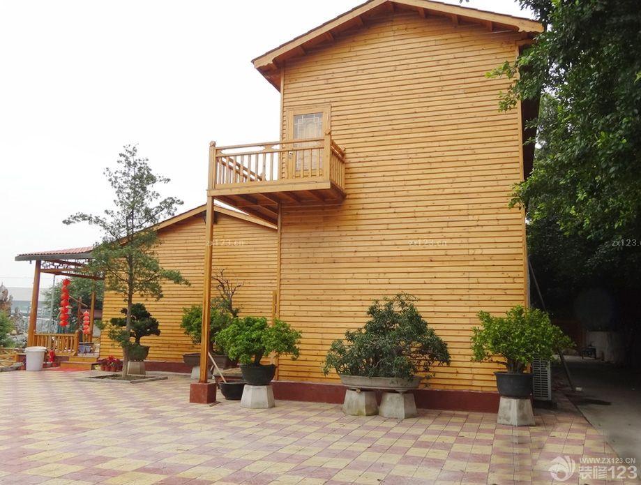 农村小型木屋别墅外墙装修效果图