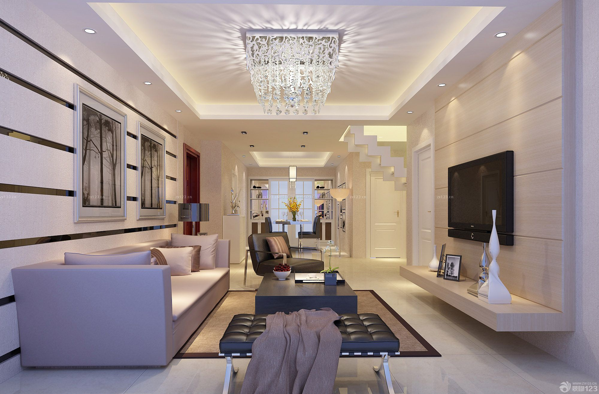 复式楼房子客厅装修设计图片大全简约型