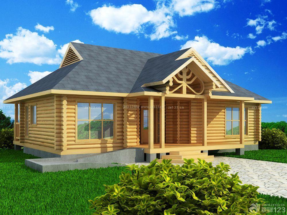 小型木屋别墅门口设计图