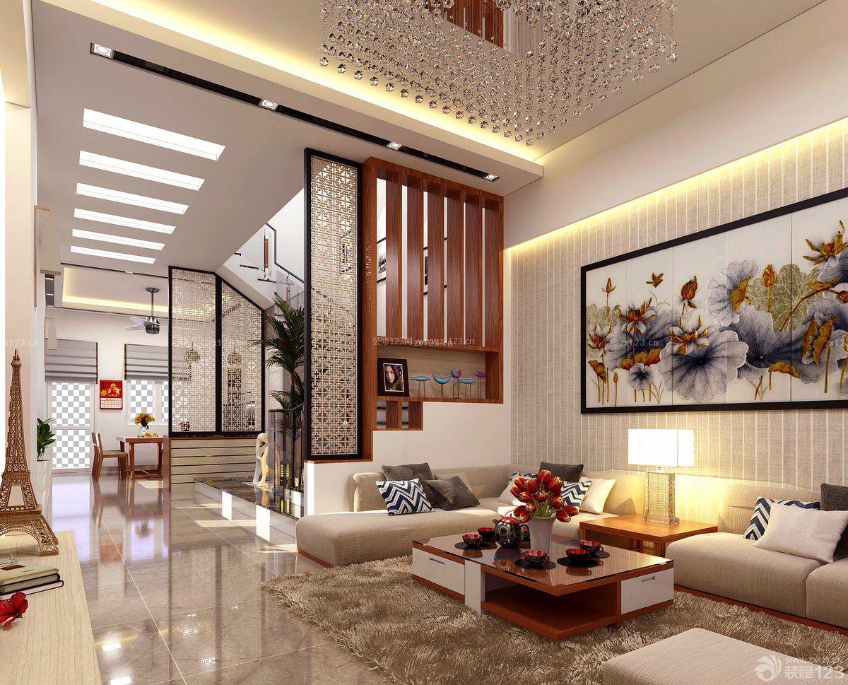 120平房子复式家居客厅装修设计图片大全