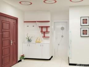一进门靠墙鞋柜装修效果图 时尚小户型装修效果图片