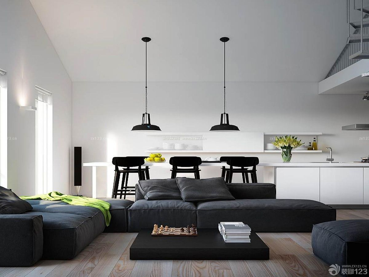房子装修设计图片大全110平开放式厨房效果图