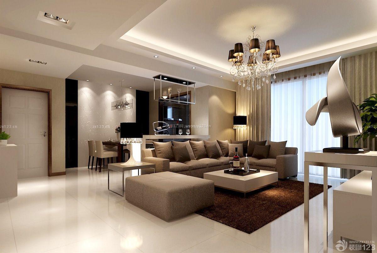 时尚现代欧式风格房子装修设计图片大全一层效果图