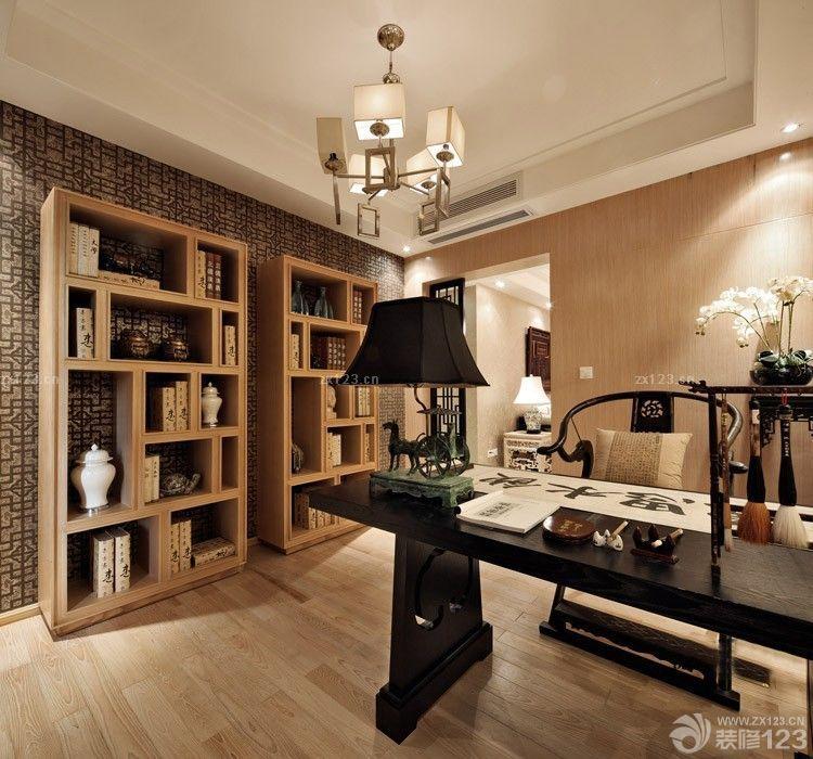 新中式书柜图片