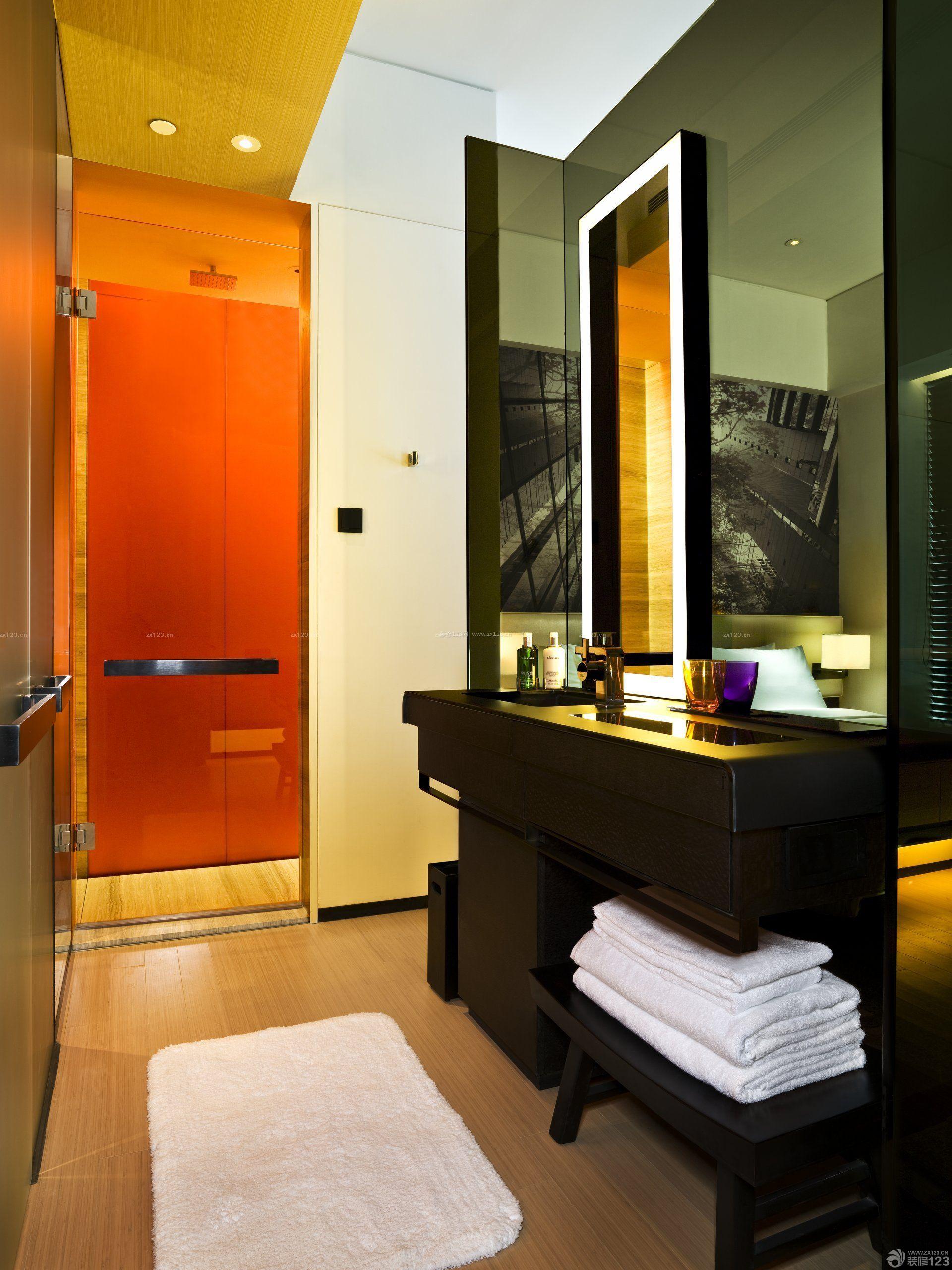 小型酒店室内洗手间设计装修图片