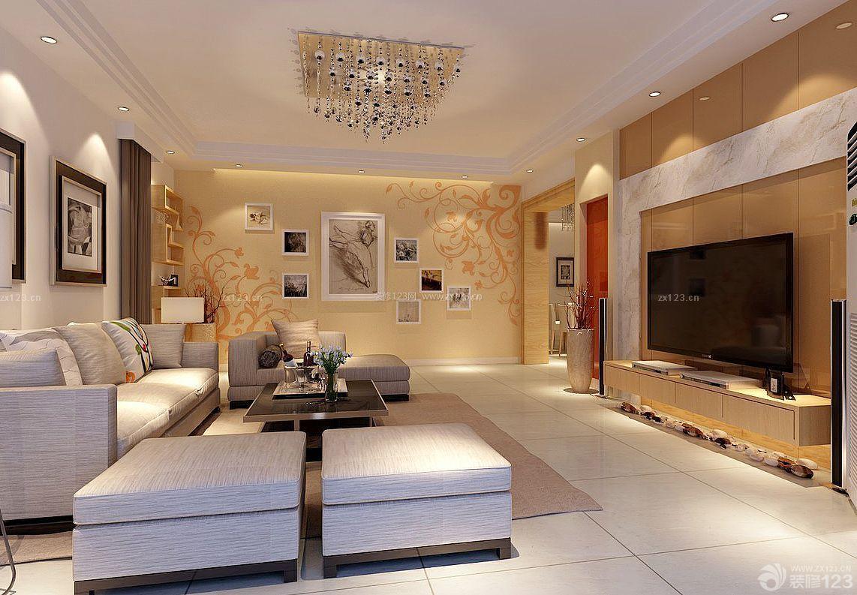 现代欧式客厅过道硅藻泥背景墙效果图图片