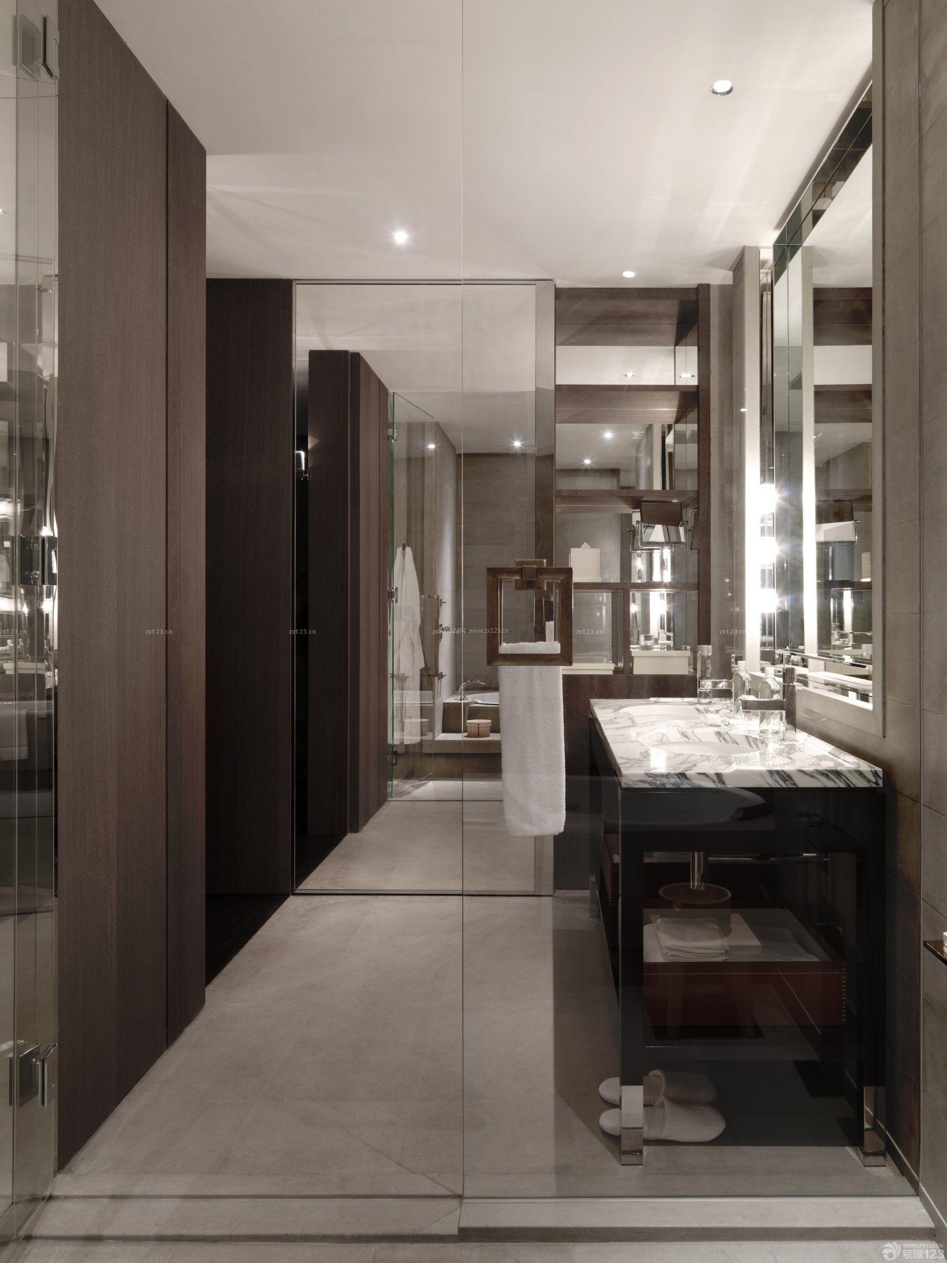 小型酒店洗手间隔断装修设计图片
