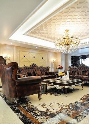 客廳吊頂裝潢 歐式風格
