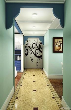 家装玄关过道硅藻泥背景墙装修设计效果图