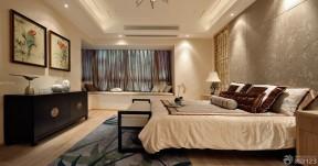 中式臥室床頭背景墻 臥室裝潢設計