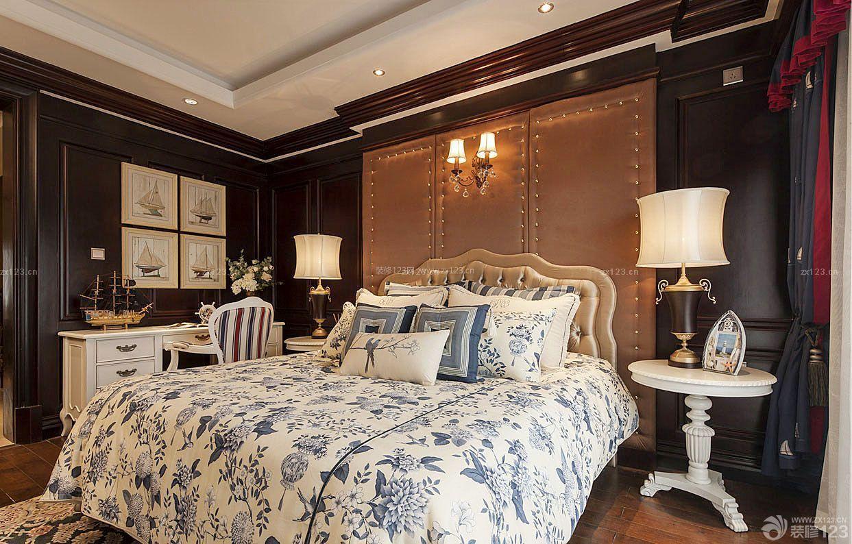 房子美式乡村风格卧室装修设计图片大全南北80平