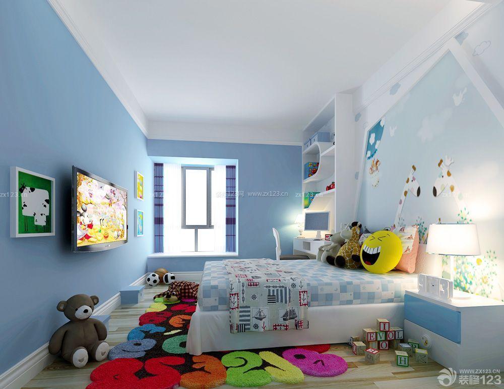家装儿童房乳胶漆颜色效果图片女孩_装修123效果图