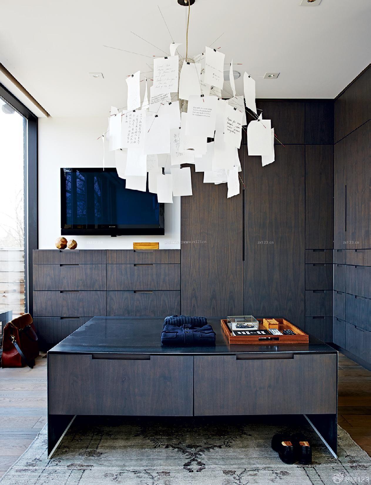 经典家装客厅壁橱设计效果图大全