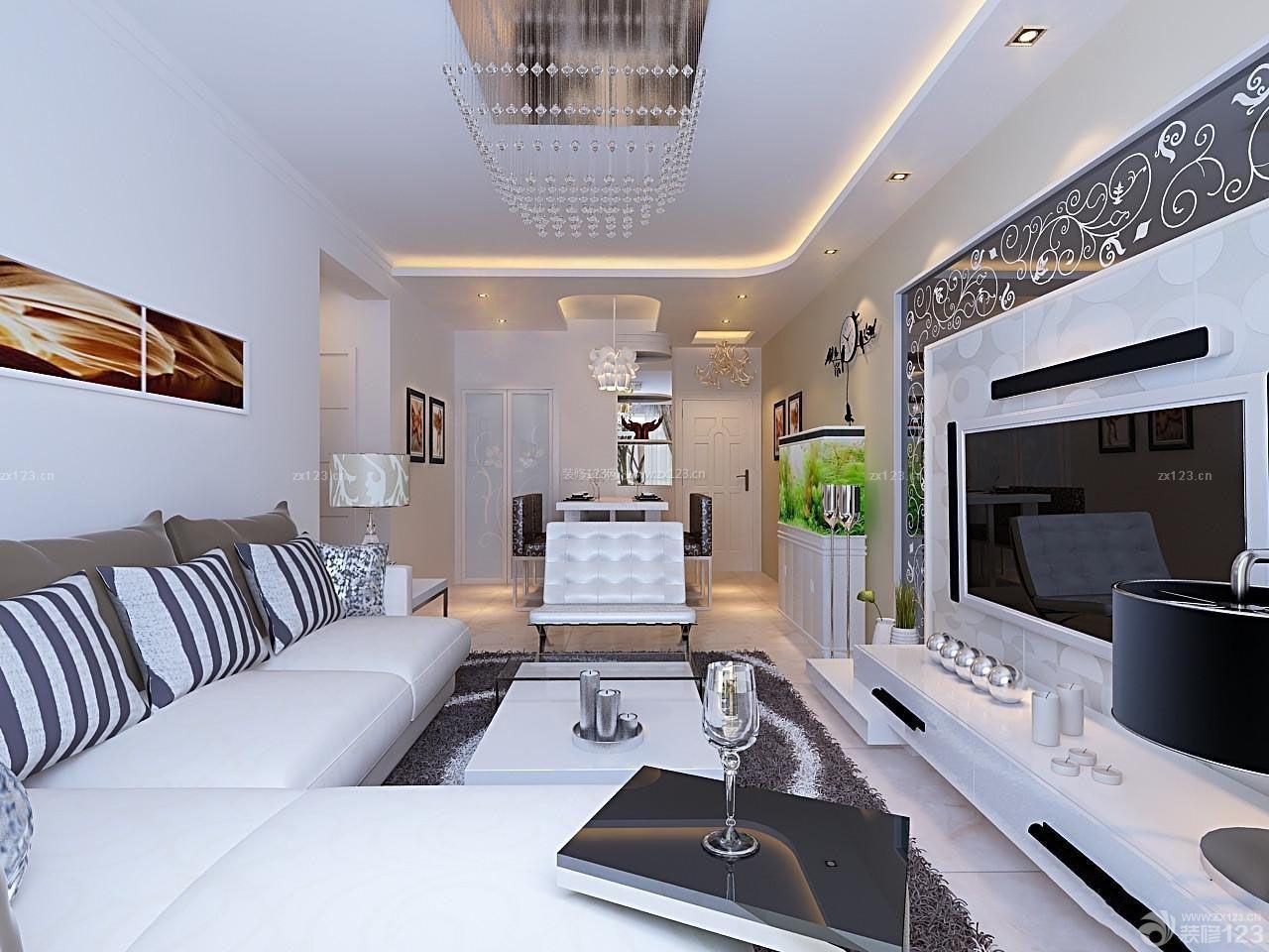 房子客厅石膏板吊顶装修设计图片大全125平