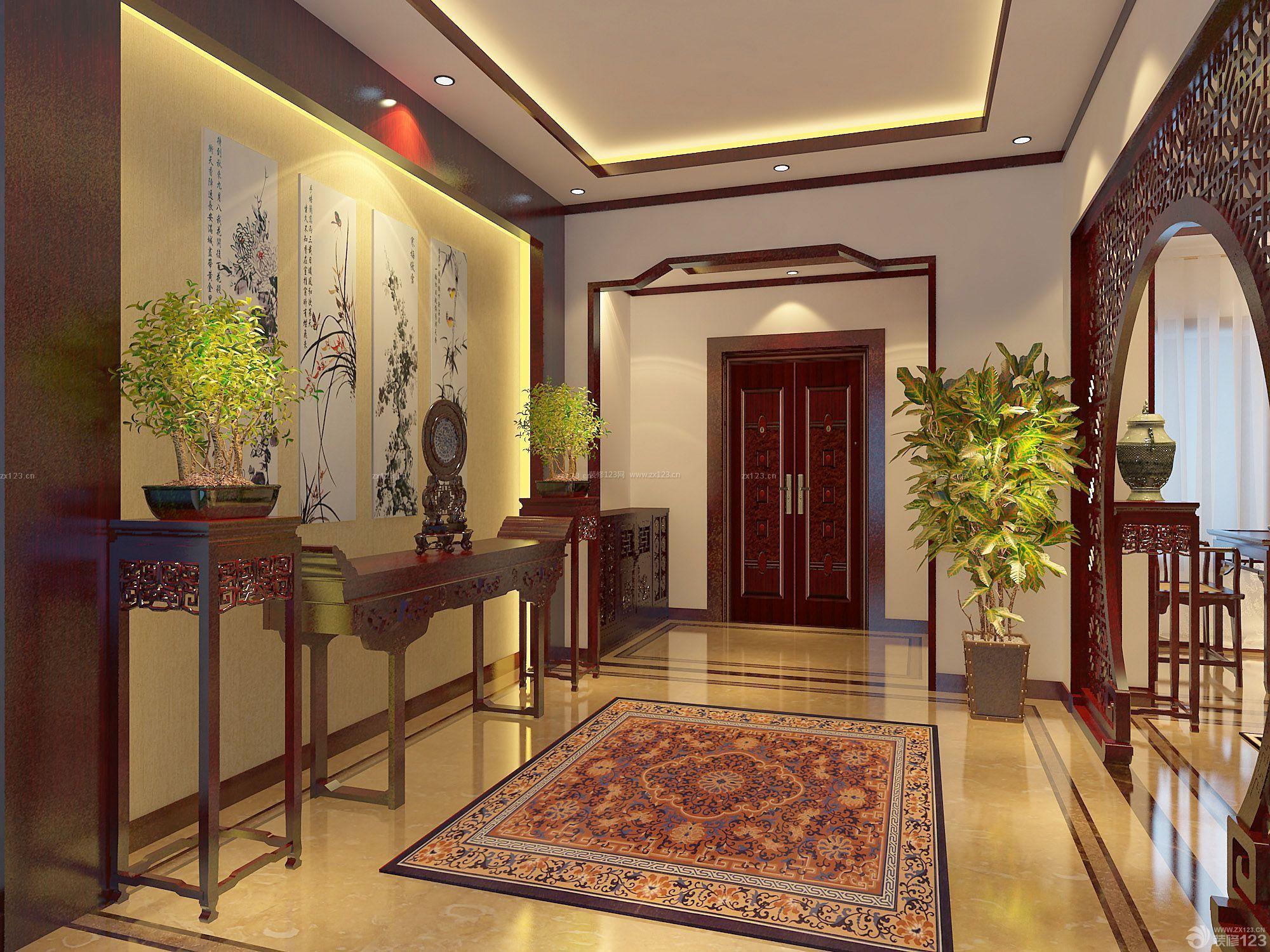 玄关3d背景墙设计500装修效果图