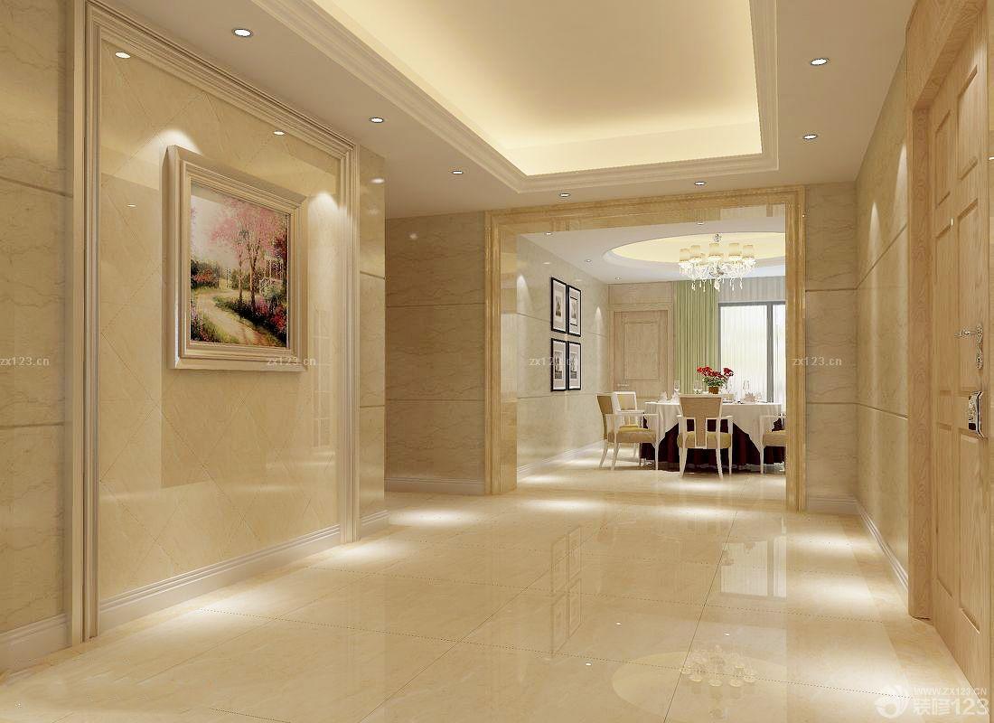 玄关石材墙面设计500装修效果图片