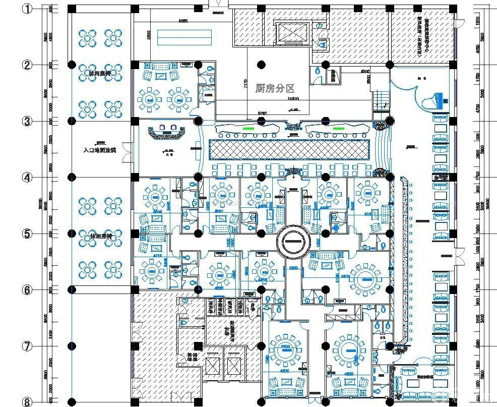 高档大型酒店设计平面图