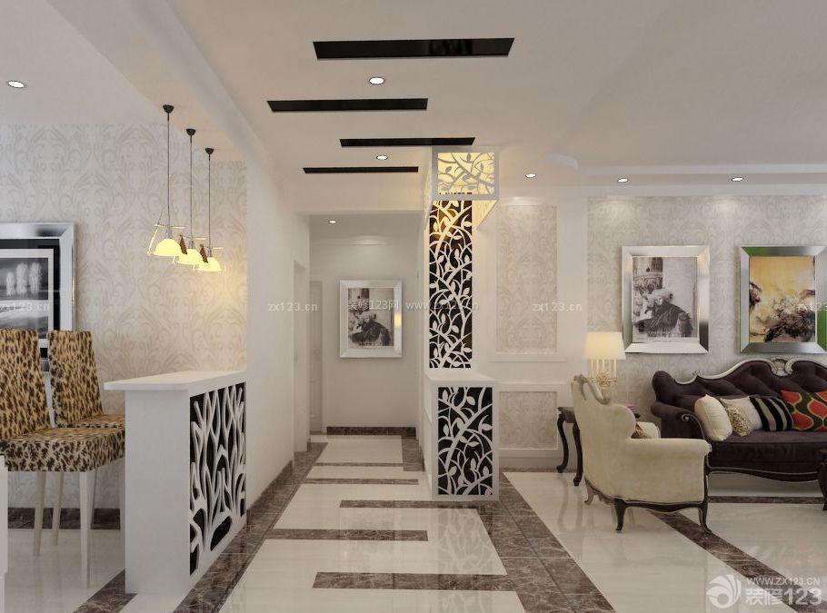 欧式小户型房间通道瓷砖设计装修图