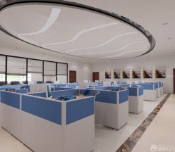 寫字樓辦公室設計辦公桌隔斷效果圖
