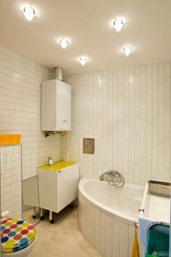 北欧风格的卫生间白色瓷砖贴图设计装修案例
