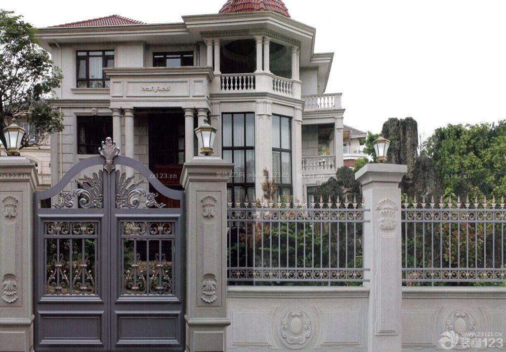 欧式别墅别墅外围墙门柱设计图片大全图片