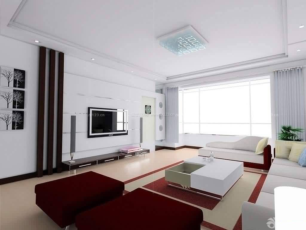 3129 三居145平现代风格客厅嵌入式电视背景墙图片 2297图片