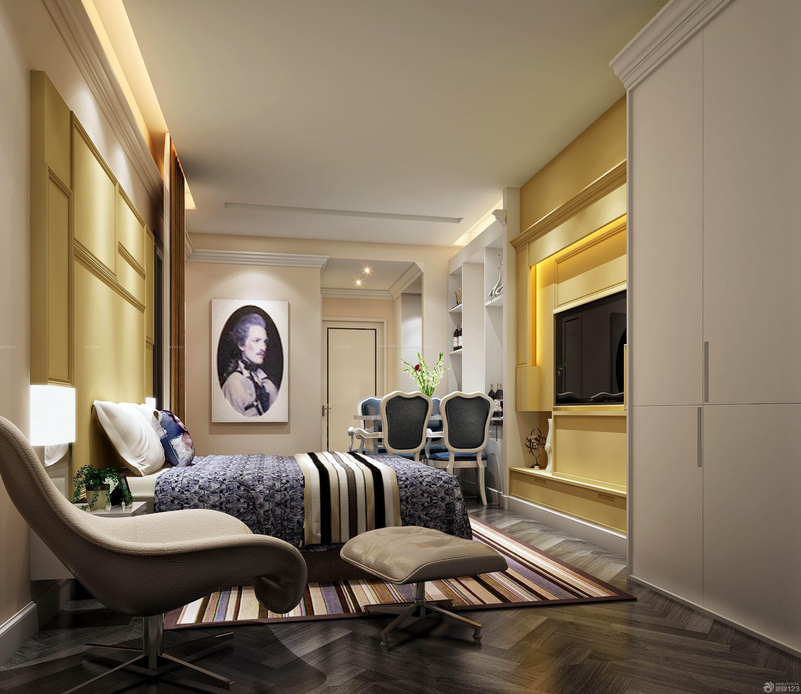 家居壁纸装修效果图-桌子壁纸效果图|四十平米装修效果图|三室装修