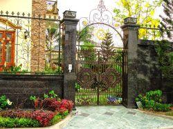 花園別墅外圍墻門柱設計