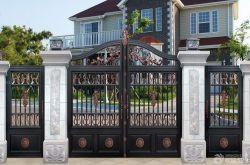 山區別墅外圍墻門柱設計