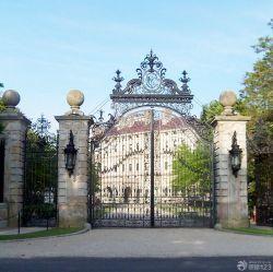 頂級別墅外圍墻門柱設計圖片