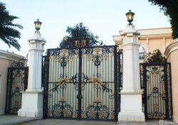 歐式別墅別墅外圍墻門柱設計裝修圖片大全