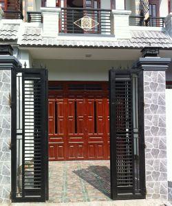 中式風格別墅外圍墻門柱設計