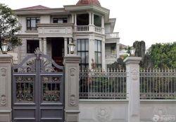 歐式別墅別墅外圍墻門柱設計圖片大全