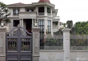 別墅外圍墻門柱設計 歐式別墅圖片大全