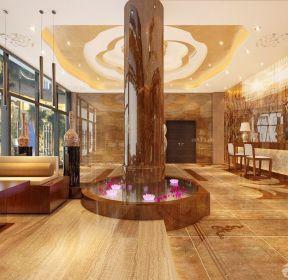 精裝酒店大堂收銀臺裝修設計效果圖-每日推薦