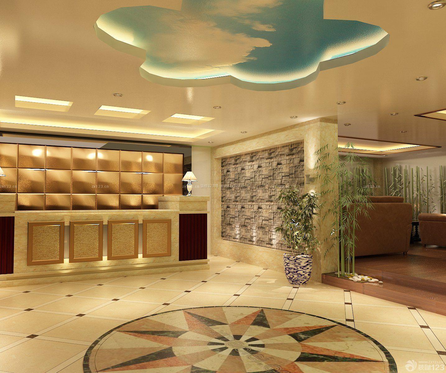 酒店大厅吧台装修效果图