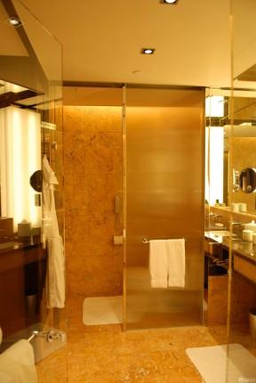 快捷酒店客房浴室玻璃门装修效果图片