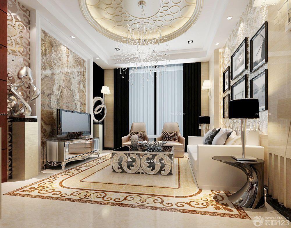 家装客厅设计长方形拼花贴图